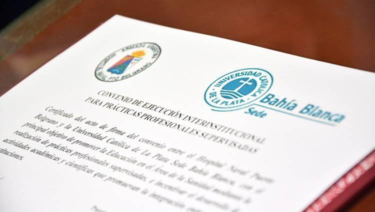 Convenio entre el Hospital Naval Puerto Belgrano y la Universidad Católica de La Plata
