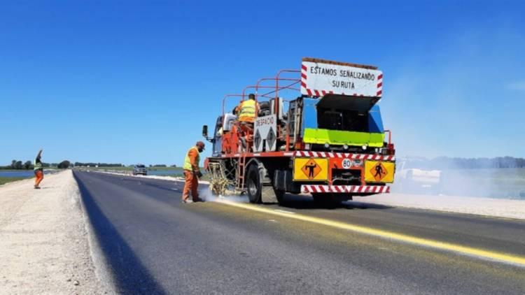 Vialidad Nacional concluyó con la obra de alteo en la ruta 3