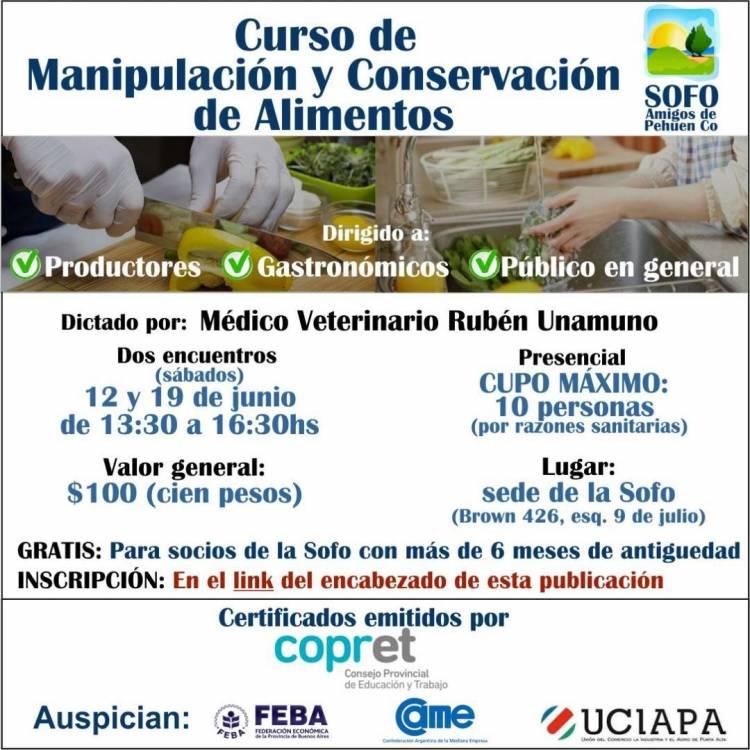 Pehuen Co: Manipulación y Conservación de Alimentos