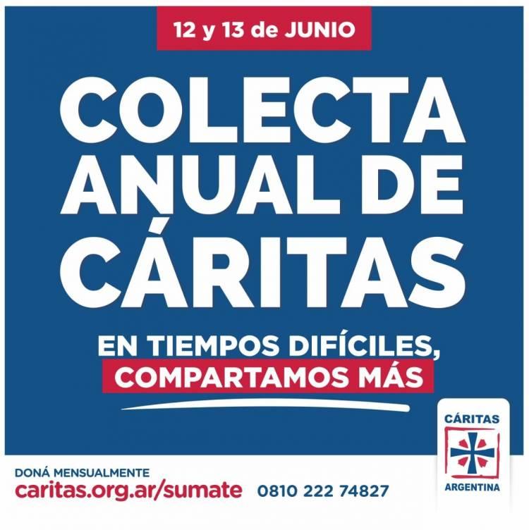 Este 12 de Junio se realizará la colecta anual de Cáritas