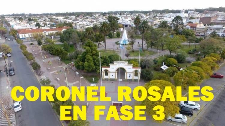 A partir de este miércoles 09/06 Coronel Rosales vuelve a Fase 3